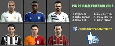 PES 2013 MİX FACEPACK V3 BY AbdKursun7