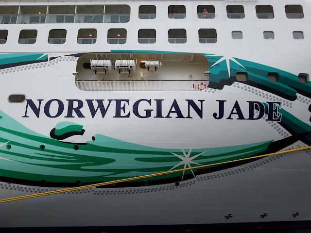 NCL Cruise ship Norwegian Jade in Bergen, Norway; Ships in Bergen