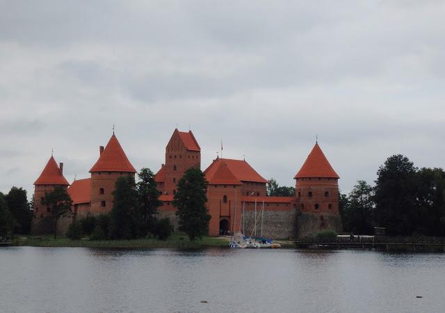Zamek w Trokach, tu narodziło się państwo litewskie (czerwiec 2014)