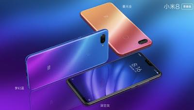harga dan spesifikasi Xiaomi Mi 8 Youth atau Lite