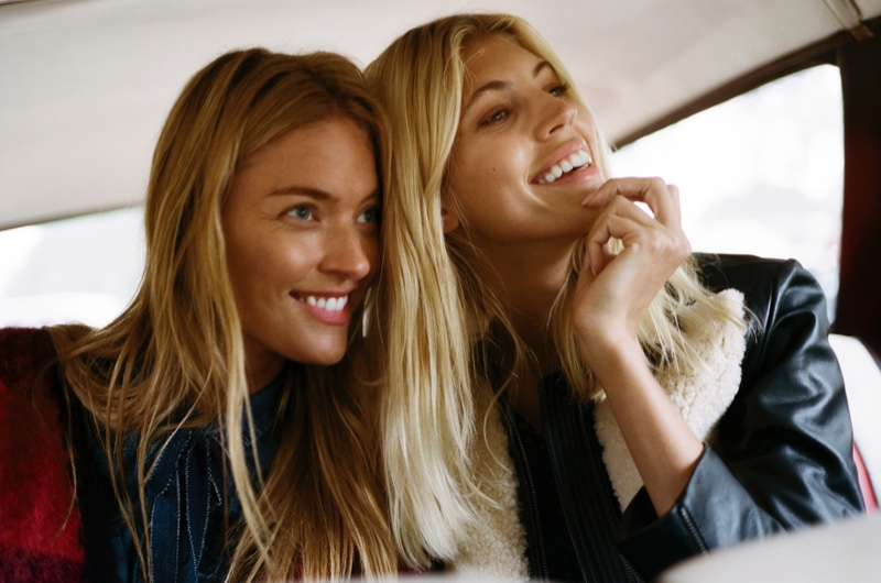 Lucky Brand Holiday 2018 Campaign featuring Martha Hunt and Devon Windsor