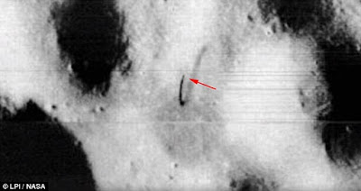 Original image by NASA showing anomalies.