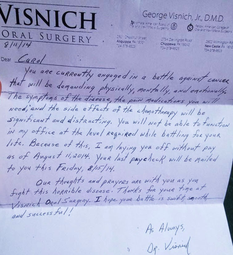 Ability Chicago Info Blog  A Doctor\u0027s Layoff Letter to Employee - employee lay off letter
