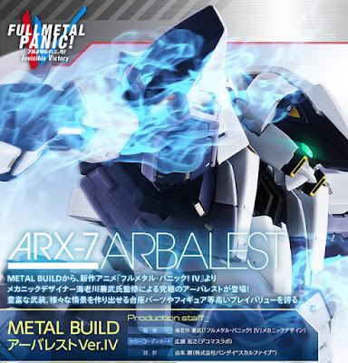 La Bandai ci propone la METAL BUILD dell' ARX-7 Arbalest -Ver.IV