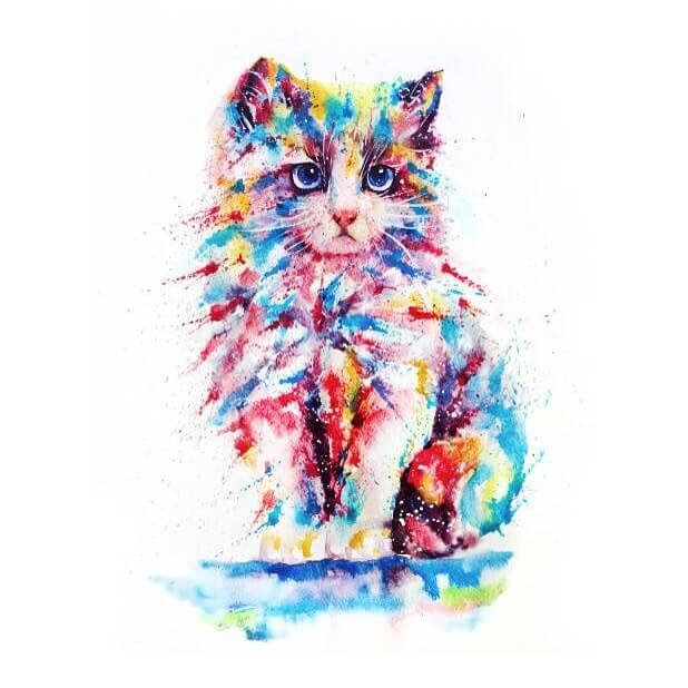 07-Cat-Watercolor-Paintings-liviing-www-designstack-co