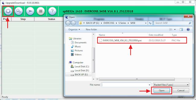 input firmware Evercoss S45B