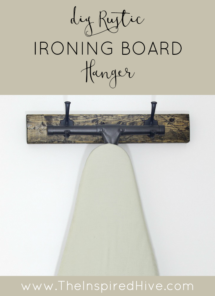 How to make a DIY rustic wooden ironing board holder for your laundry room