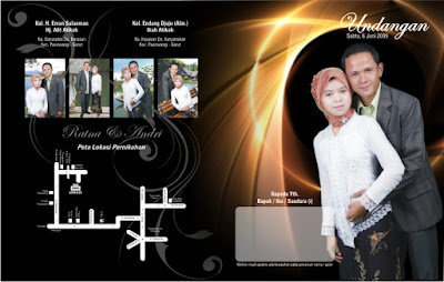 template undangan pernikahan cdr