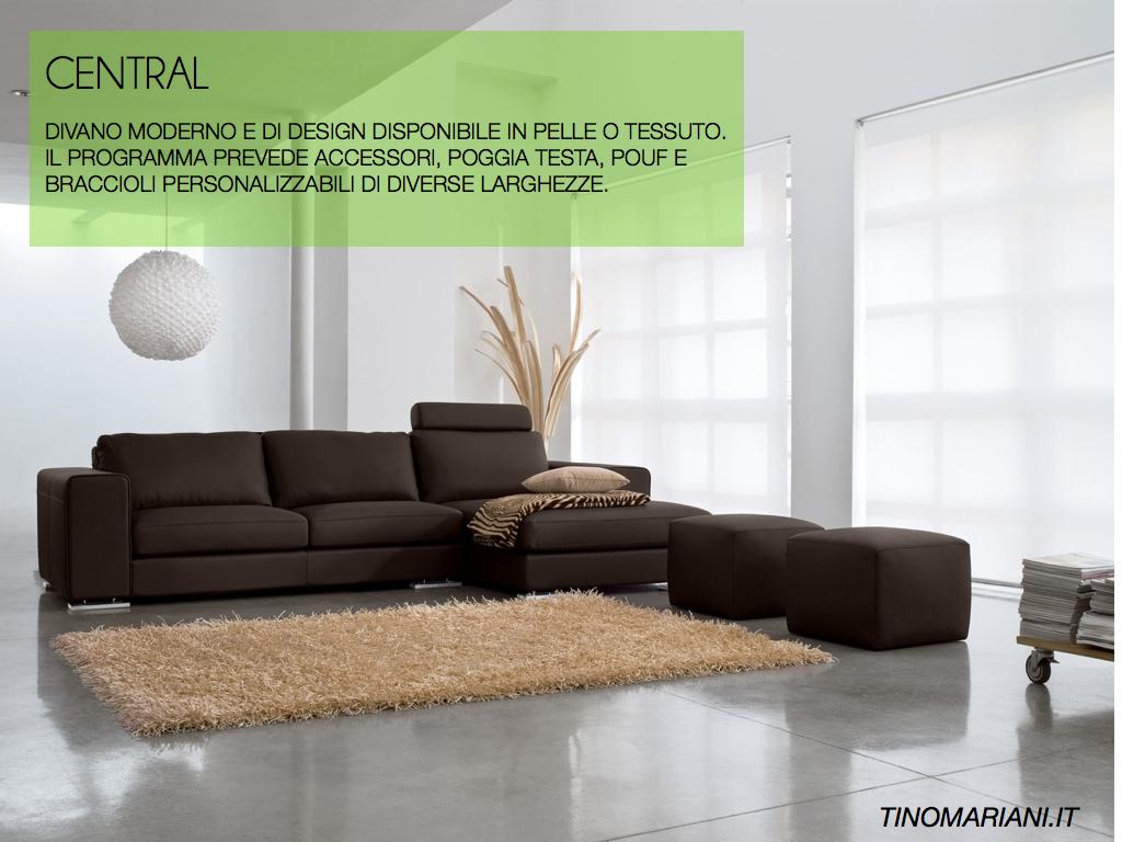 Vendita divani moderni in pelle - divano in pelle Central