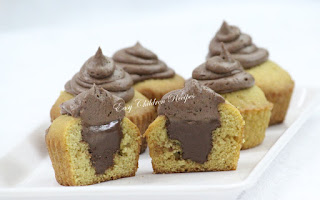 NUTELLA FILLED CUPCAKE / NUTELLA CUPCAKE / SURPRISE CUPCAKES