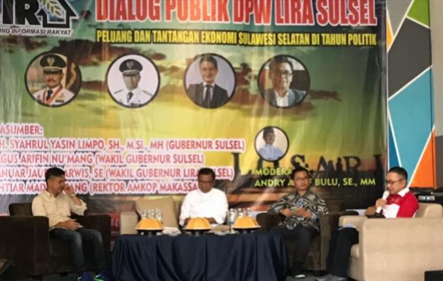 Dialog Publik LIRA Sulsel, Wagub Agus : Tingkatkan Taraf Hidup Berdasarkan Kawasan