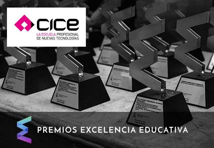 premio a la Mejor Escuela Profesional de Nuevas Tecnologías 2018 a CICE