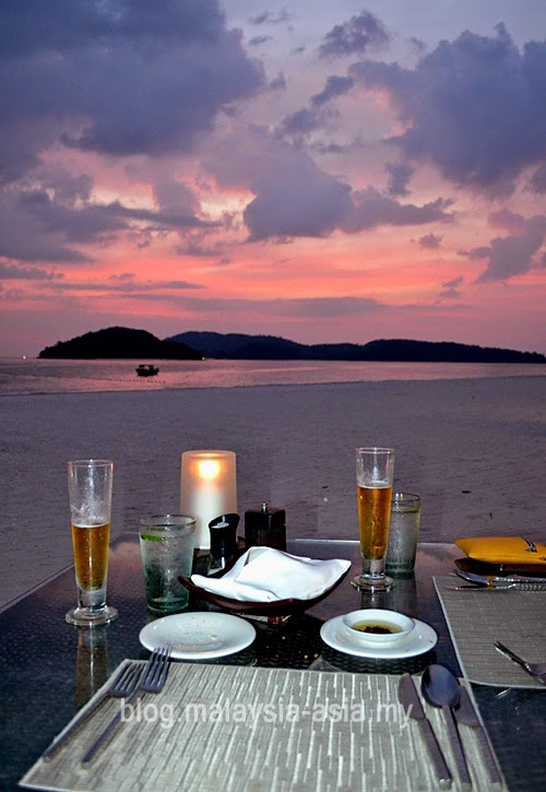 Romantic dinner on pantai cenang langkawi