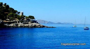 Chegada à Ilha grega de Hidra, no Arquipélago Argo-Sarônico