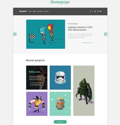 Download Talent Portfolio Template Free | Free Design Data