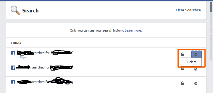 How to view and delete your Facebook search history - Swooosh Tech