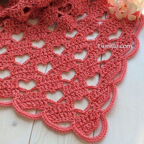 Lacy Crochet Shawl - Tutorial