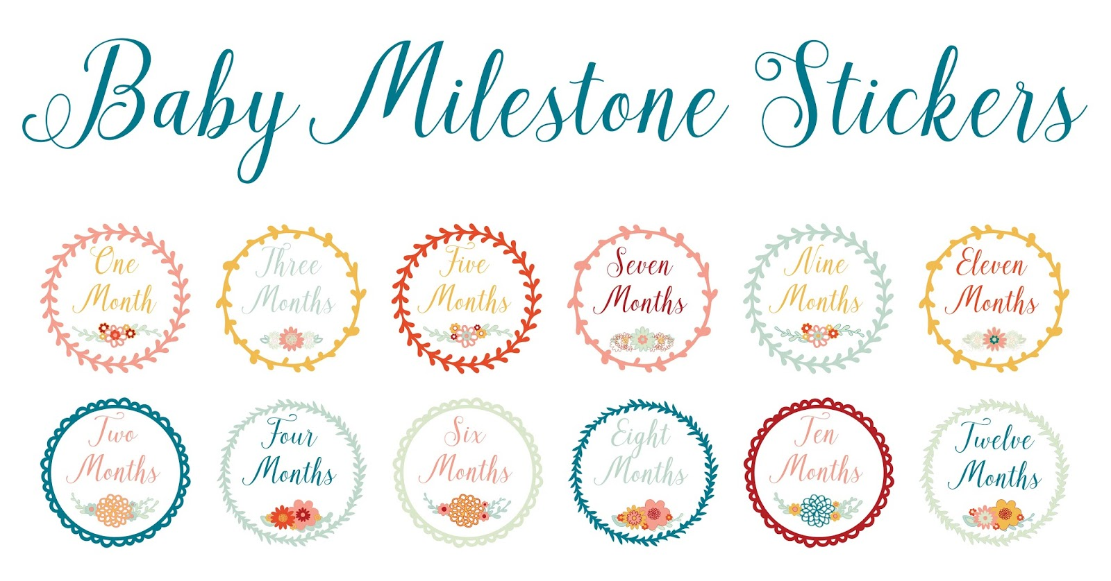 Silhouette Tutorial to Make Baby Monthly Milestone Stickers by Nadine Muir for Silhouette UK
