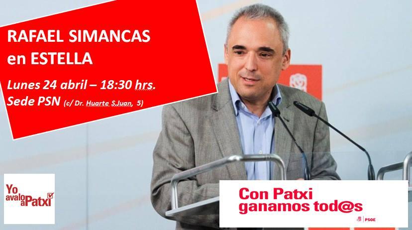 Acto de la Plataforma en apoyo a Patxi López con Rafael Simancas