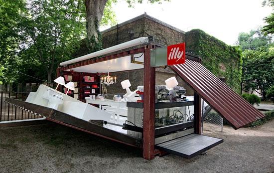 Green Pear Diaries, interiorismo, marketing, Pop Up Store, Illy, The Push Button House