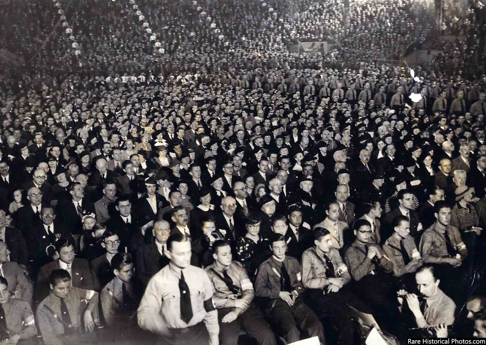 Rally nazi en Buenos Aires, 1938.