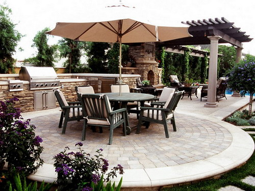 terrific gallery various ideas designing outdoor kitchen | Various Types of Great Outdoor Kitchen Roof Ideas - Home ...