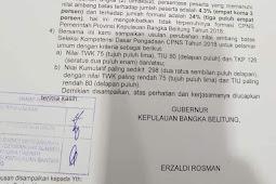 Passing Grade CPNS Diturunkan, TWK 75 TIU 80 TKP 126 Usulan Pemerintah Daerah Bangka Belitung