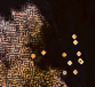 You can see the stable patterns of Conway's Game of Life.