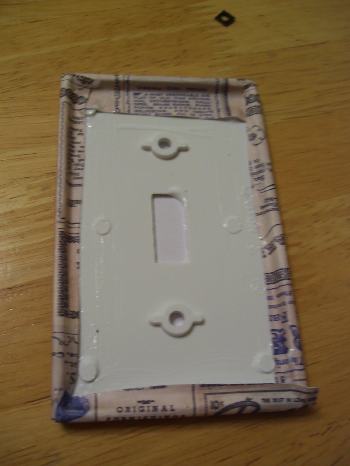 Whimsically Homemade: DIY Light Switch Plates