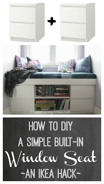 How to diy a simple built in window seat an ikea hack for How to build a nightstand from scratch