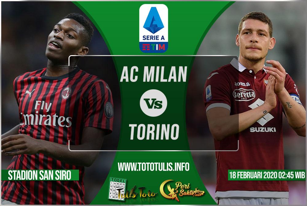 Prediksi AC Milan vs Torino 18 Februari 2020