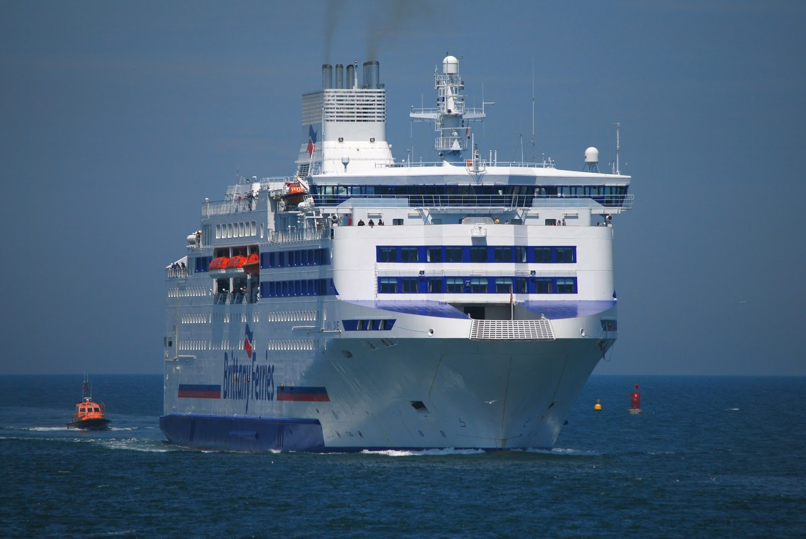 brittany ferries normandie arriving ouistreham last june. Black Bedroom Furniture Sets. Home Design Ideas