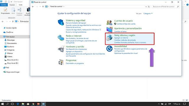 windows tiene preinstalado todos los idiomas del mundo solo debes seleccionar tu idioma y windows lo instalara