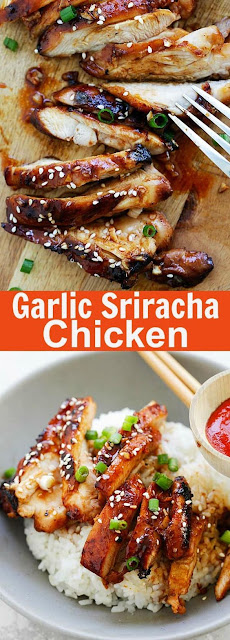 Garlic Sriracha Chicken Recipe