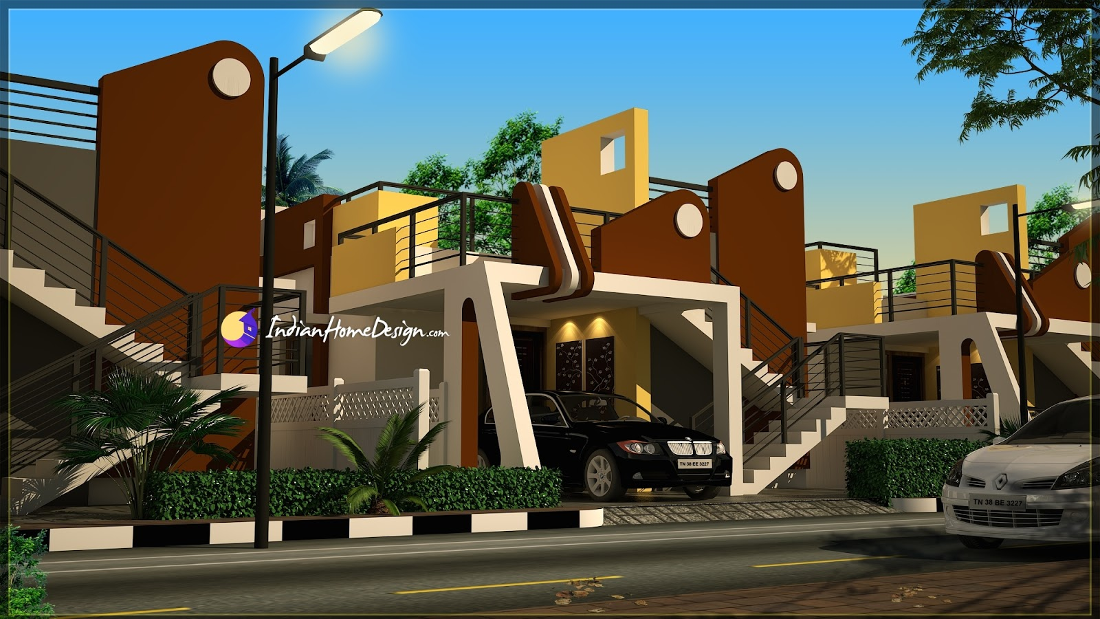 Contemporary flat roof 2 Bhk TamilNadu Home Design in 1250 sqft by NS Architec