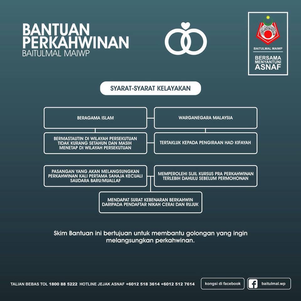 Permohonan Bantuan Perkahwinan Baitulmal MAIWP