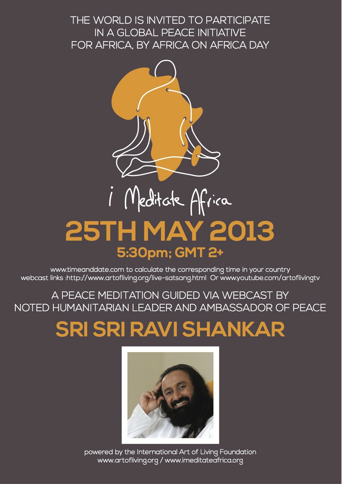 i meditate africa following sri sri