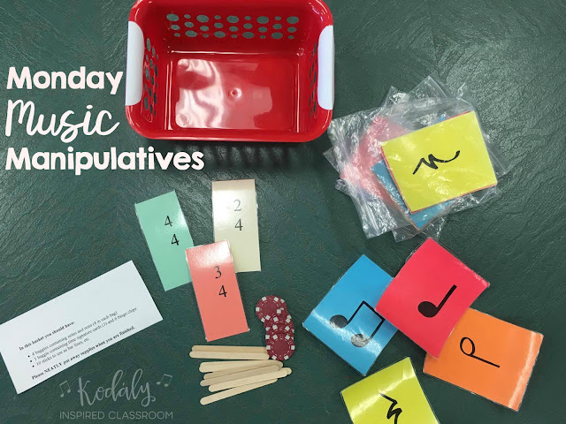 Monday Music Manipulatives Meter on Color By Note Kodaly