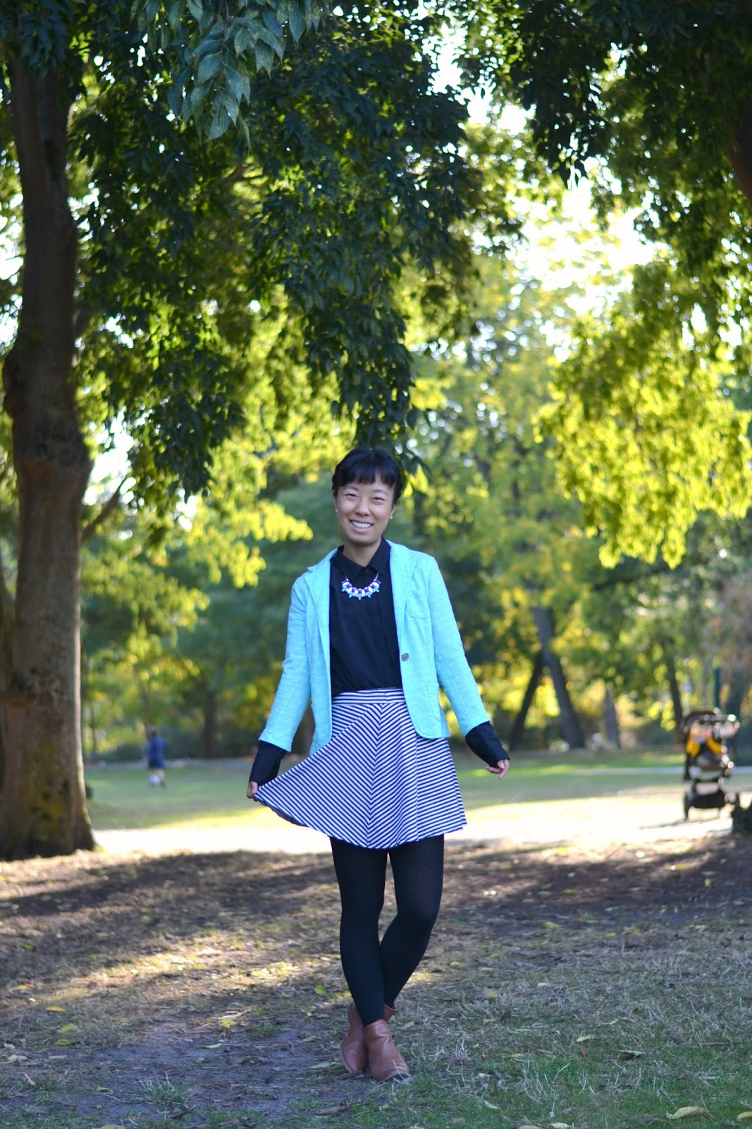 mint blazer outfit