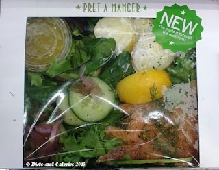 Pret a Manger Smoked salmon & sweet pickle salad