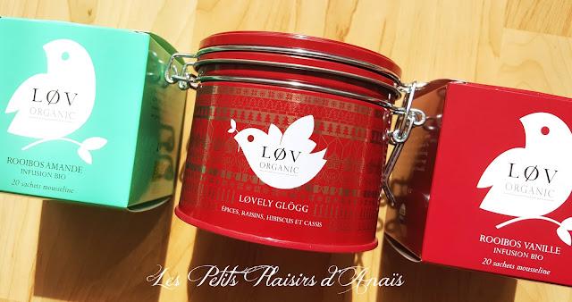 boîtes rooibos thés lov organic