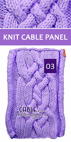 Knit Cable Panel Pattern , its FREE