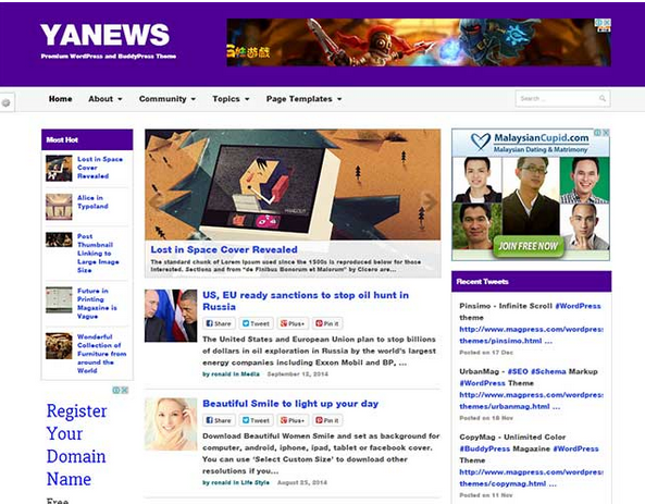 yanews wordpress theme