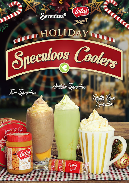 Have a taste of sweet Christmas with Serenitea's Lotus Biscoff Speculoos Coolers