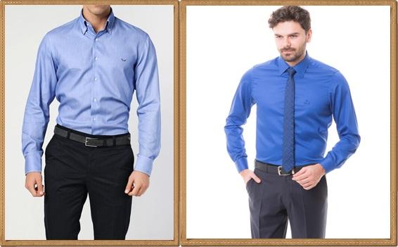 klasik-mavi-renk-gomlek-modelleri
