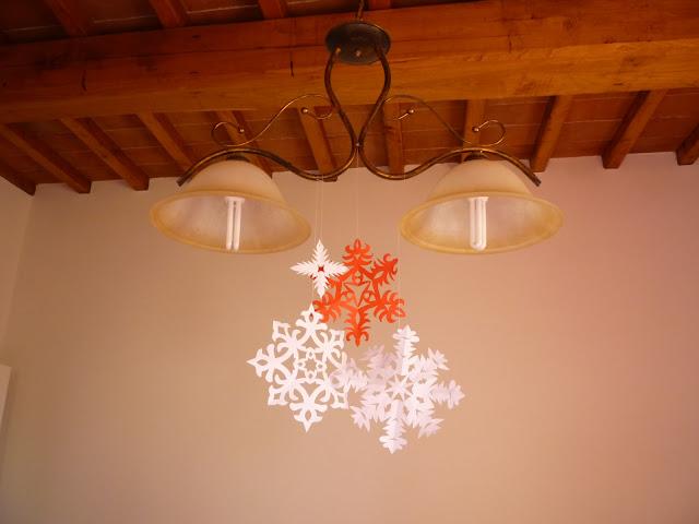 śnieżynki z papieru-ozdoby świąteczne
