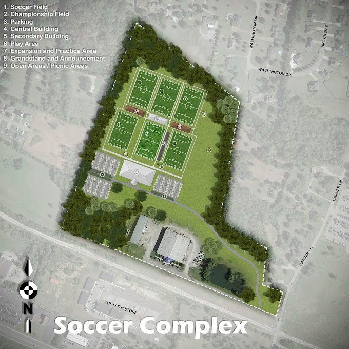 Soccer Complex Schematic Site Plan, Wilson County, Tennessee