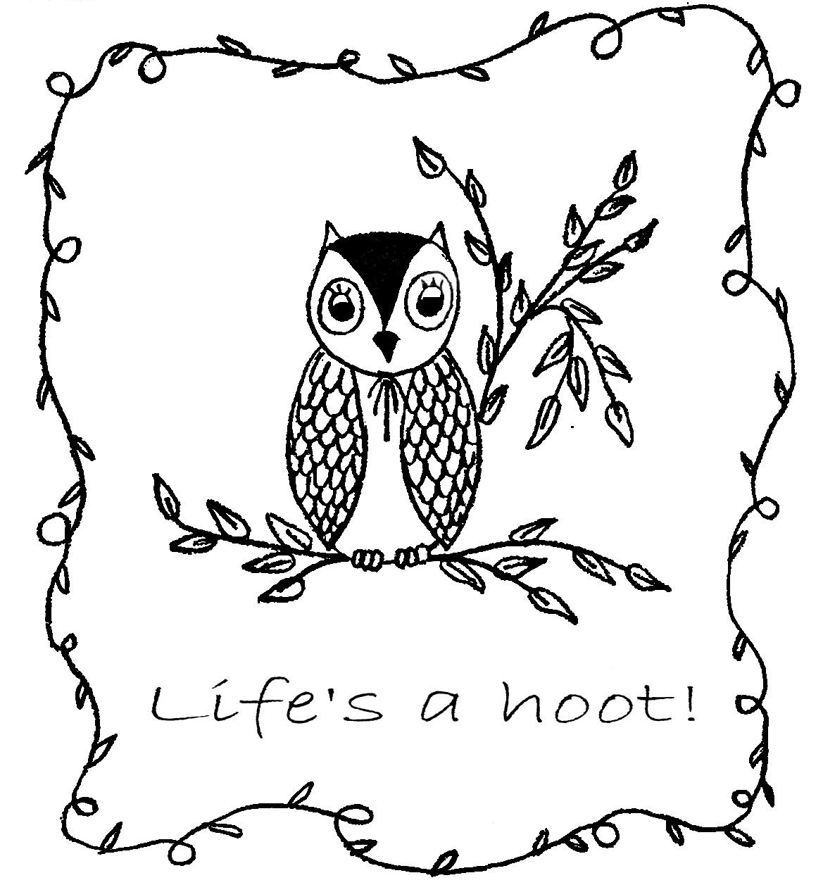 Sew Little Fabric by Paula Storm: Free Owl Embroidery Designs