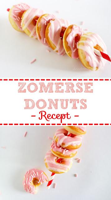 traktatie, donuts bakken, recept donuts bakken in de oven, papieren rietjes online kopen, waar koop ik een donuts apparaat, hoe bak ik donuts in de oven, traktatie voor in de zomer, donuts trakteren, donuts traktatie school, school traktatie, feestje trakteren