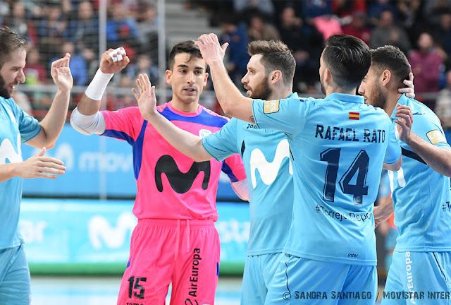 Cabe recordad que Movistar Inter debe completar los 25 minutos restantes  del partido ante Naturpellet Segovia df9af247dc96f